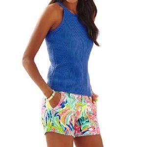 Lily Pulitzer Estee sweater tank Iris Blue size XS